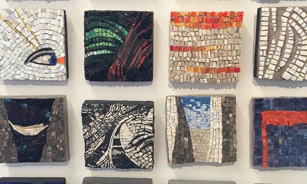 The Chicago Mosaic School's BYOB Mosaic Basics with instructor Casey Van Loon