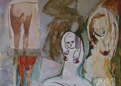 """Maria Kondratiev, Untitled (alien breasts), gouache watercolor on paper, 8"""" x 10"""", 2018"""