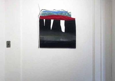 "Rita Leduc, Rocks on an Arguably Solitary Journey (I), mixed media, approx. 48"" x 40"" x 24"", 2020"