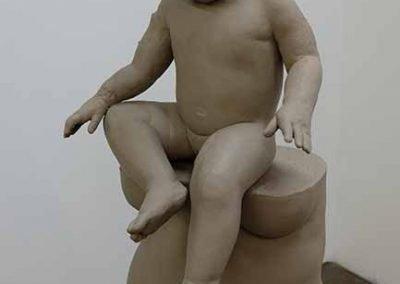 Ashley Lyon, MOTHER, Ceramic Sculpture, 24 x 24 x 70, 2020