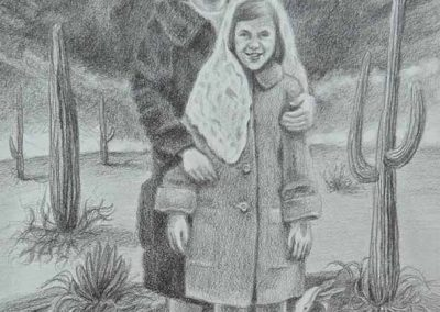 "Maria Driscoll McMahon,Cleaner Fish, graphite on paper, 11"" x 14"", 2015"
