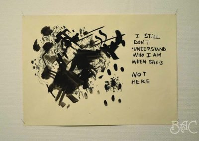 """Rakel Stammer, The Mother Drawings, Ink on Paper, 18"""" x 25"""", date, $220"""