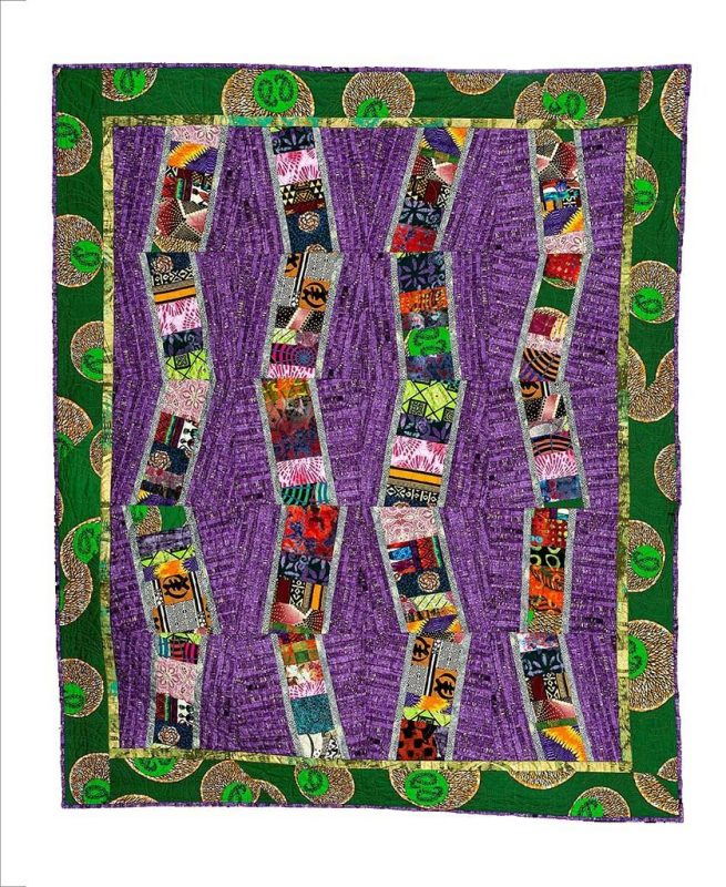 Sticks and Stones Art Quilt by Donna Chambers