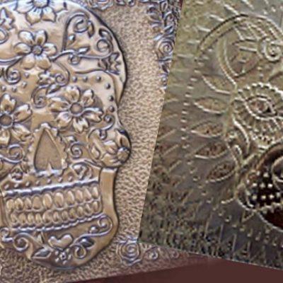 Cherie Lee metal emboss skulls masks